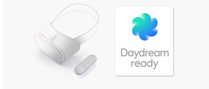 Il progetto Daydream e il simbolo che andrà ad identificare i dispositivi che saranno compatibili con la nuova tecnologia.