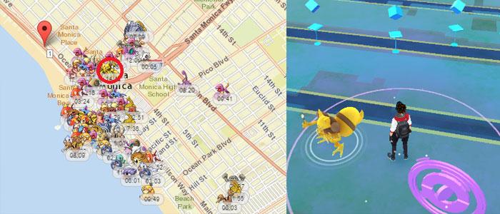 I servizi di terze parti permettono di scoprire dove i nostri amici Pokémon si saranno nascosti.