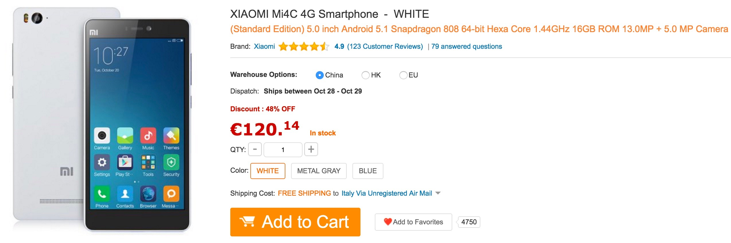 GearBest - Xiaomi Mi4C