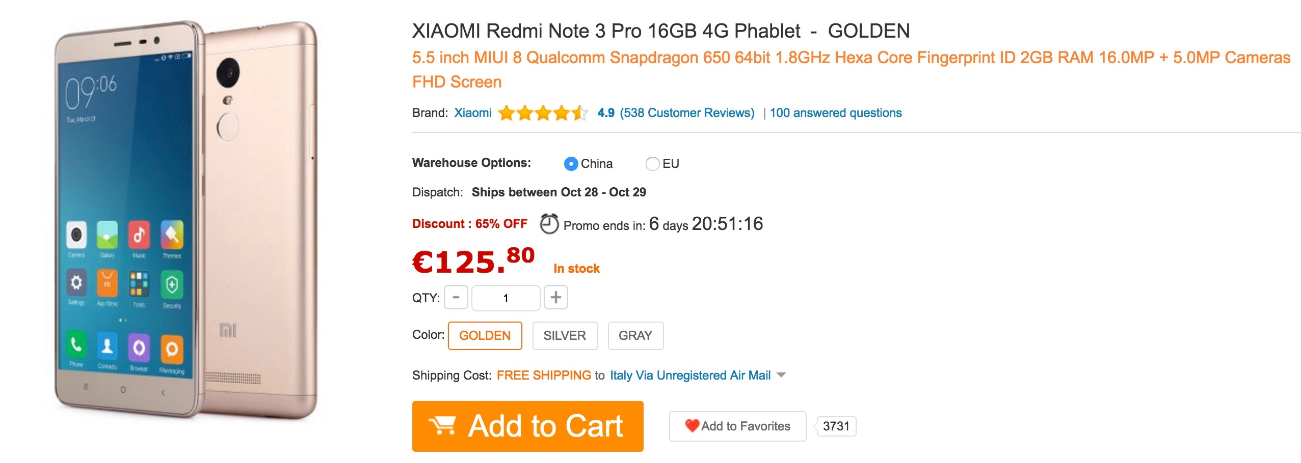 GearBest - Xiaomi Redmi Note 3 Pro