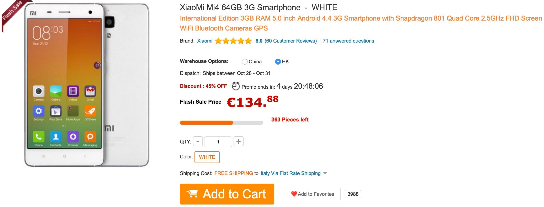 GearBest - Xiaomi Mi4