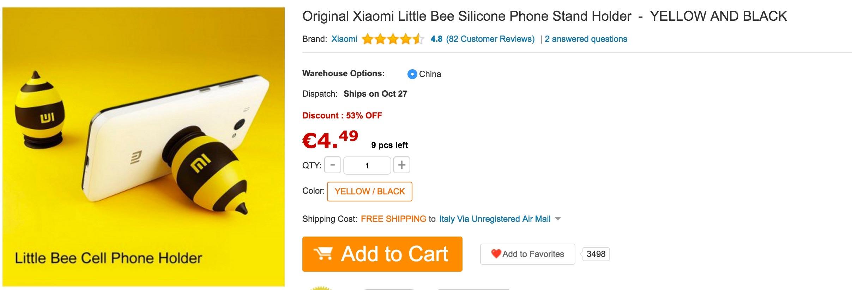 GearBest - Little Bee stand Xiaomi