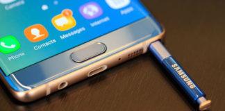 Samsung Galaxy Note 7 sistema di controllo