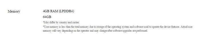 Samsung Galaxy S8 memorie flash
