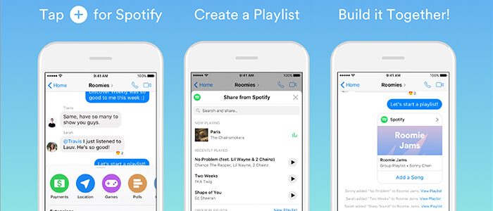 Spotify Facebook Messenger