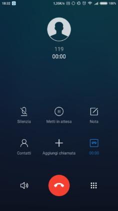 Xiaomi Mi 6 Dialer