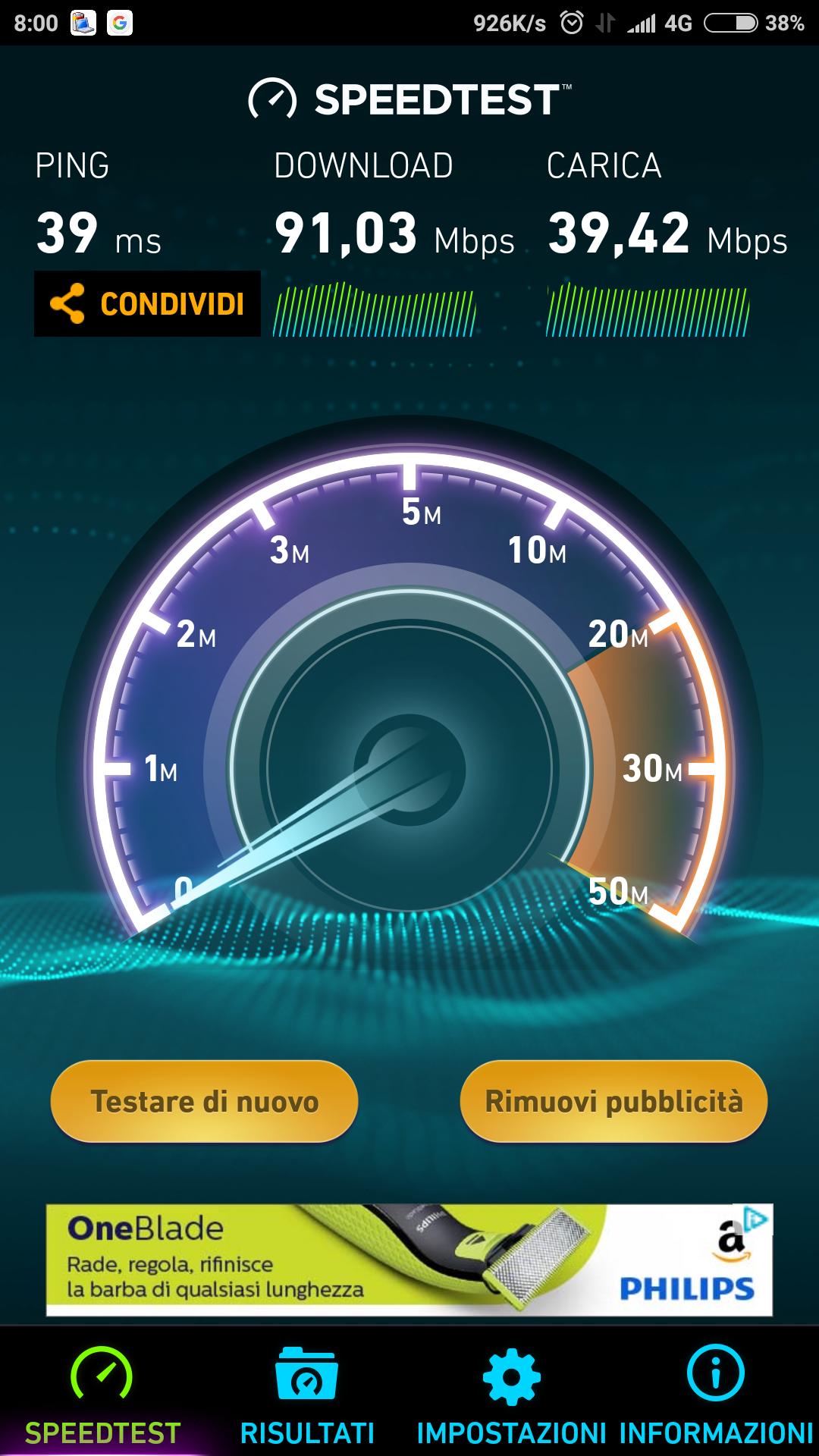 Xiaomi Mi 6 Speedtest LTE