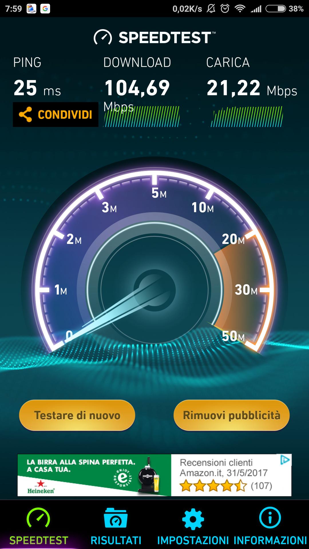 Xiaomi Mi 6 Speedtest Wi-Fi