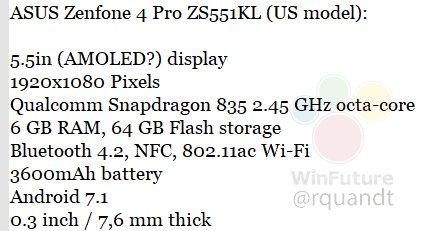 ASUS ZenFone 4 Pro specifiche Roland Quandt