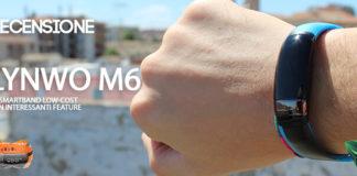 LYNWO M6 smartband recensione