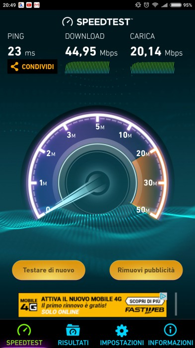 Mi Max 2 Speedtest Wi-Fi