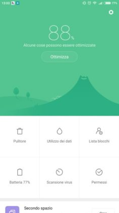 Mi Max 2 app Sicurezza
