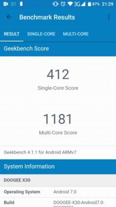 X30 GeekBench