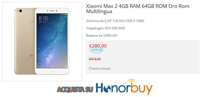 Xiaomi Mi Max 2 recensione