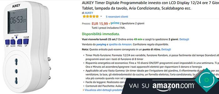 Aukey Presa da muro programmabile recensione