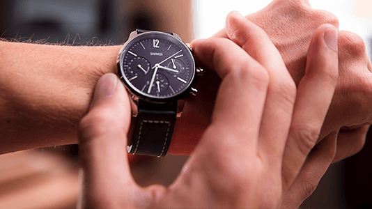 Swings smartwatch ibrido Kickstarter
