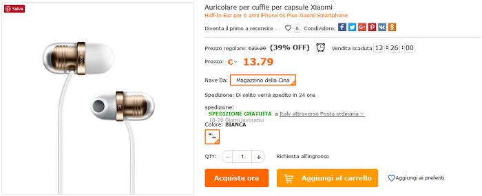 Xiaomi Mi Capsule offerta Cafago