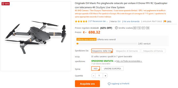 DJI Mavic Pro e Spark TomTop