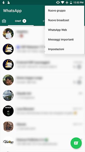 Disattivare spunte blu WhatsApp