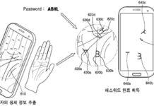 Samsung brevetto scansione del palmo mano