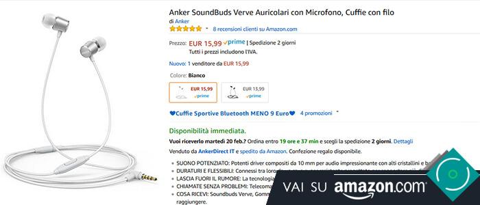 Anker SoundBuds Verve recensione