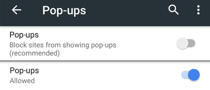 Come bloccare gli annunci pubblicitari su google chrome - Bloccare finestre pop up ...