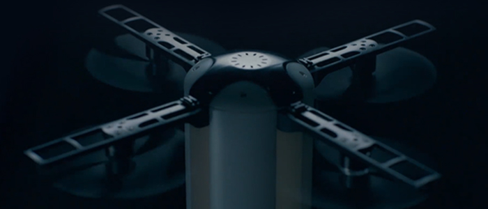 LeveTop drone pieghevole autonomo Kickstarter
