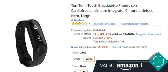 Prezzo Amazon TomTom Touch Cardio