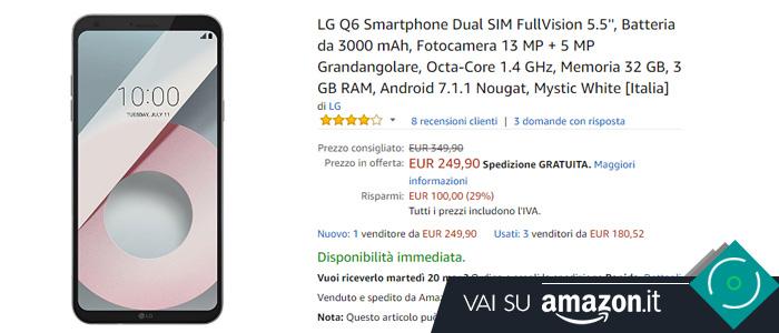 Prezzo Amazon LG Q6
