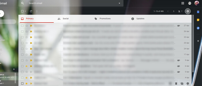 Visualizzazione Comfortable Gmail