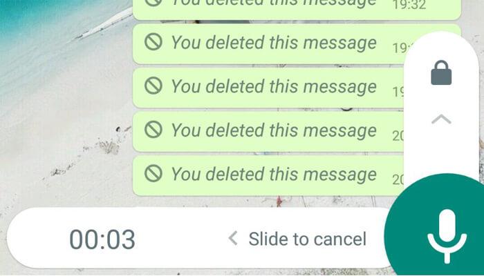 Messaggi vocali WhatsApp senza mani