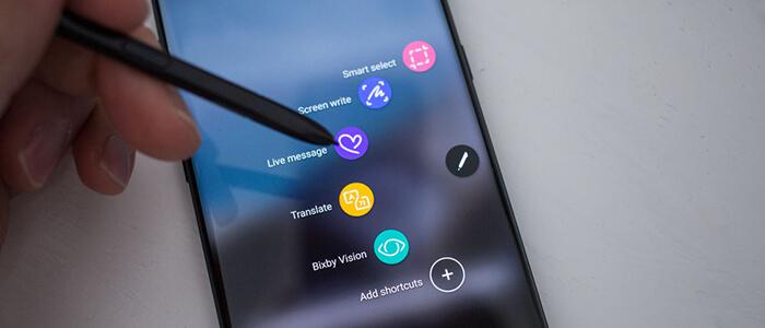 Samsung Galaxy Note 9 batteria display rumor