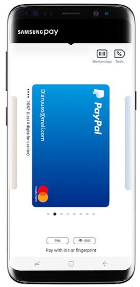 Supporto PayPal su Samsung Pay