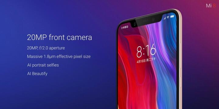 Xiaomi Mi 8 ufficiale