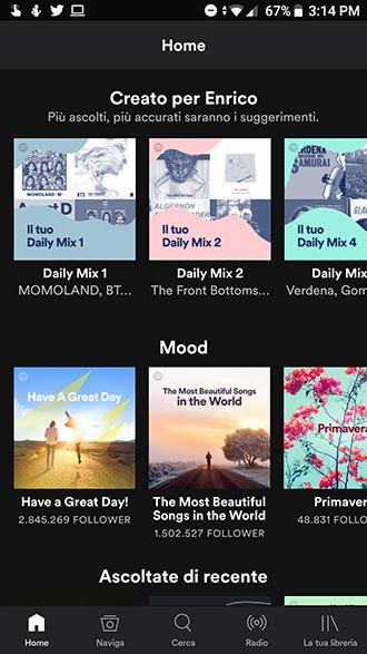 Spostare musica Spotify su microSD