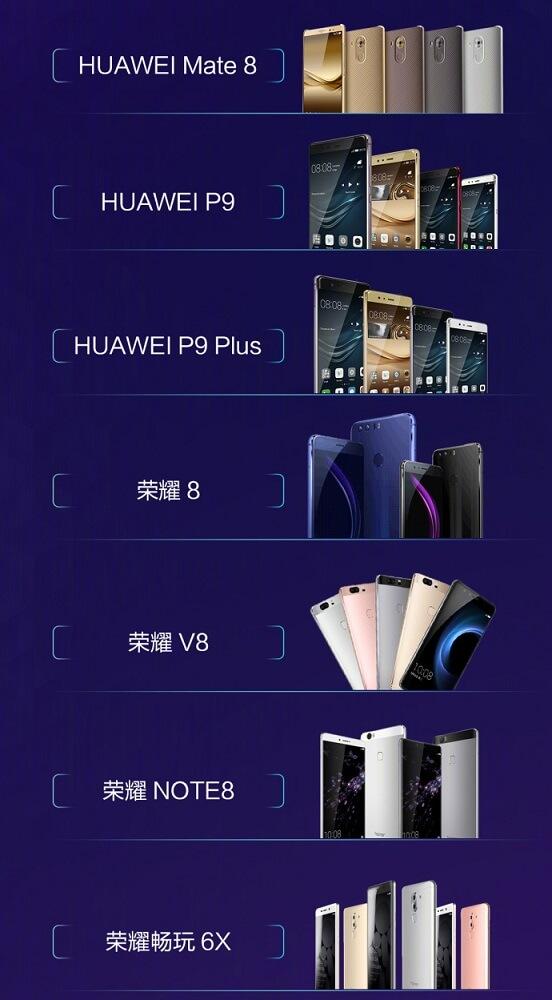 Huawei 7 smartphone EMUI 8.0 Android Oreo