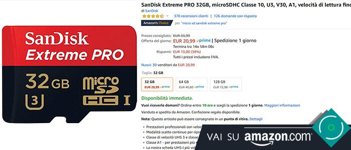 SanDisk Extreme Pro 32 GB Amazon