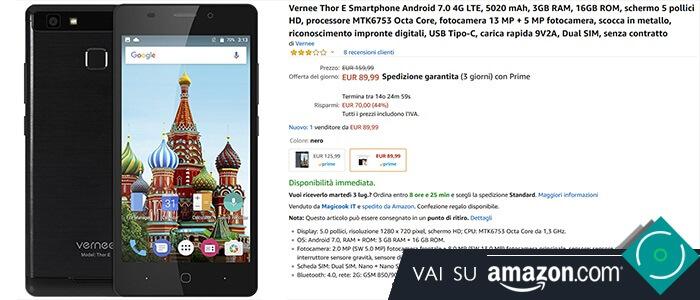 Vernee Thor E offerta Amazon