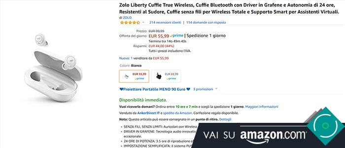 Zolo Liberty offerta Amazon