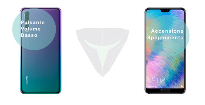 Combinazione tasti per fare uno screenshot Huawei P20, P20 Lite e P20 Pro