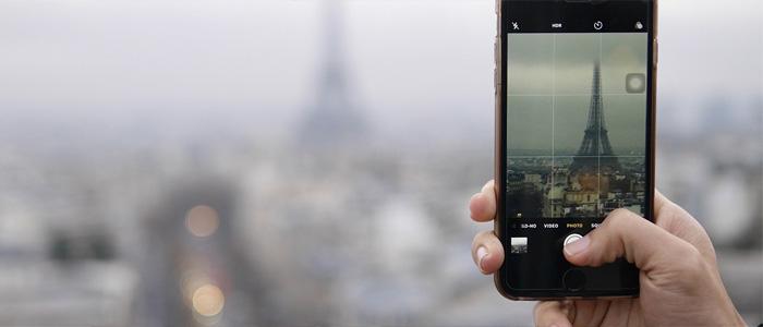 Smartphone foto regola dei terzi