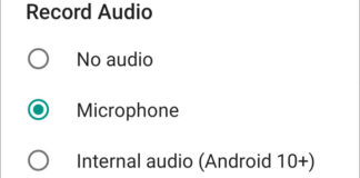 Registrare l'audio interno su qualsiasi smartphone