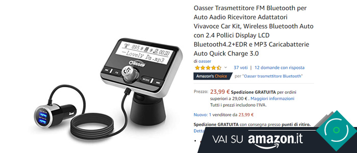 Kit vivavoce bluetooth auto