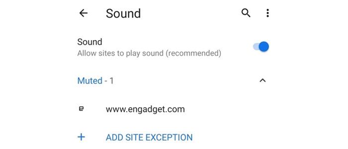 Disattivare suoni Chrome