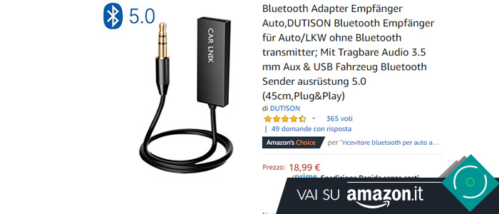 migliori ricevitori Bluetooth per auto